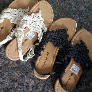 NWT Bundle AE Gladiator Sandals